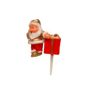 Père Noël cadeau rouge et or