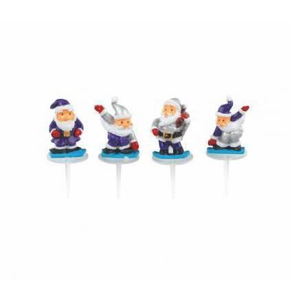 Pères Noël à la neige