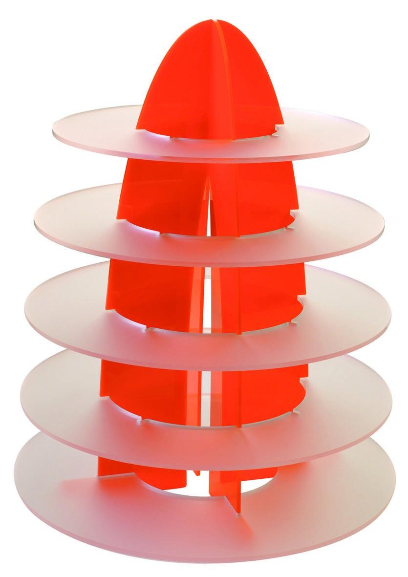 Présentoir Rond - Orange - 5 niveaux