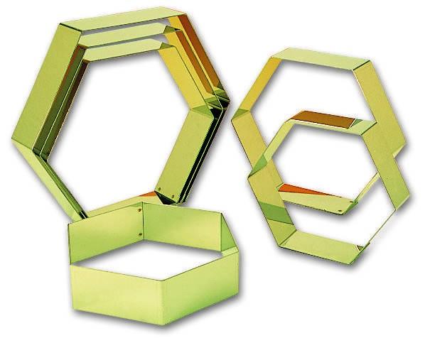 Hexagone. 16 cm - 16 cm