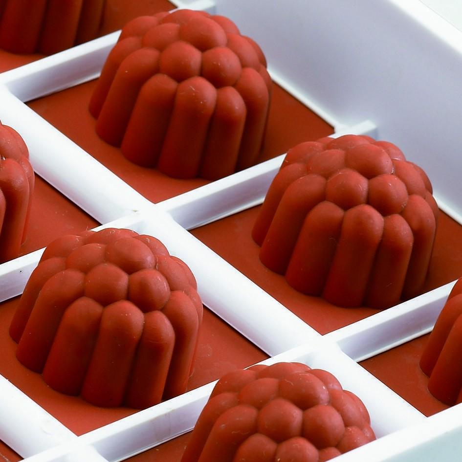 Moules flexibles à pâtes de fruit (framboise)