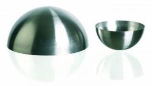 Calotte demi-sphèrique Inox 12 cm - 12 cm