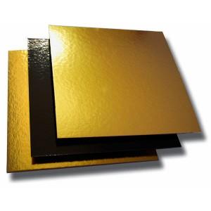 Carré carton or/noir - 22cm