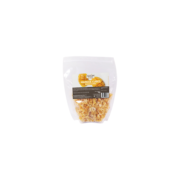 Mangues séchées en cubes - 1 kg