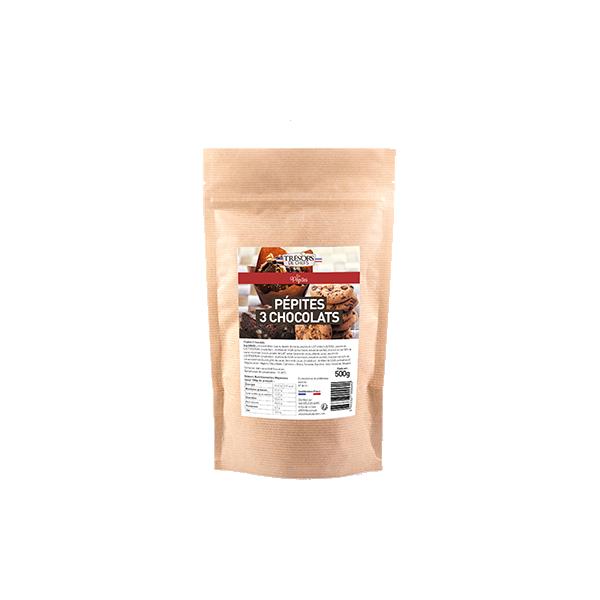 Pépites aux 3 chocolats - 500 g