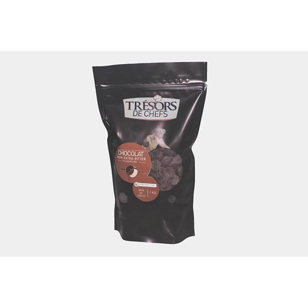 Chocolat noir Extra-Bitter 64% - 1 kg