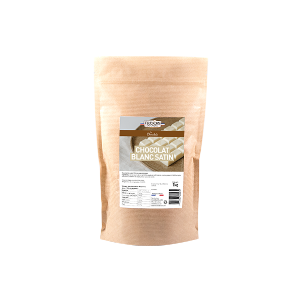 Chocolat blanc satin - 1 kg