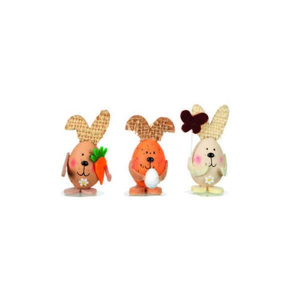 Sujet Pâques - Lapins oeufs