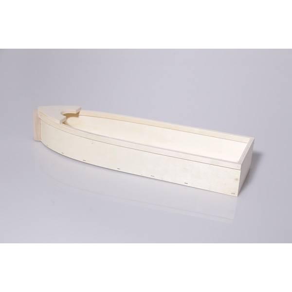 Coque de bateau en bois
