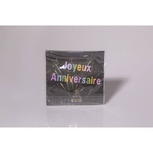 Serviette anniversaire - pqt 20