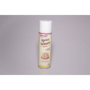 Bombe spray velours blanc