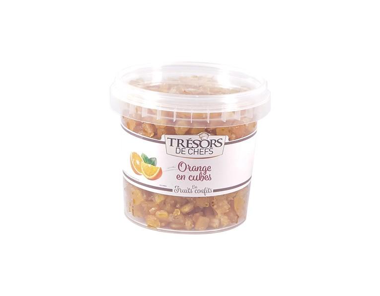 Ecorces d'orange cubes - 250 g