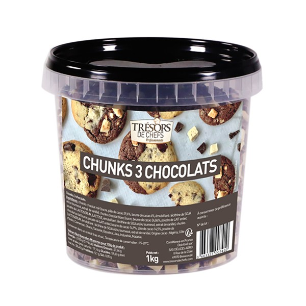 Chunks 3 chocolats