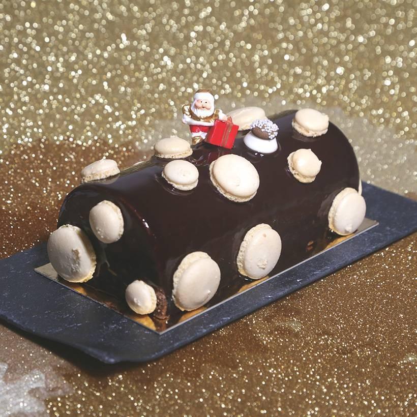 Recette de bûche chocolat praliné