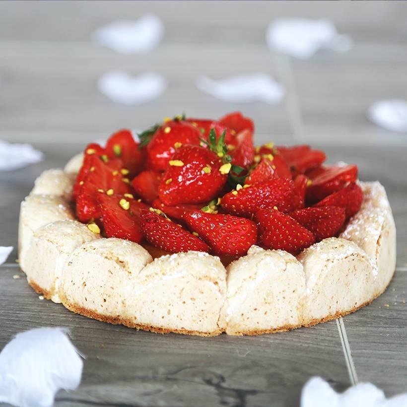 Recette de dacquoise à la fraise