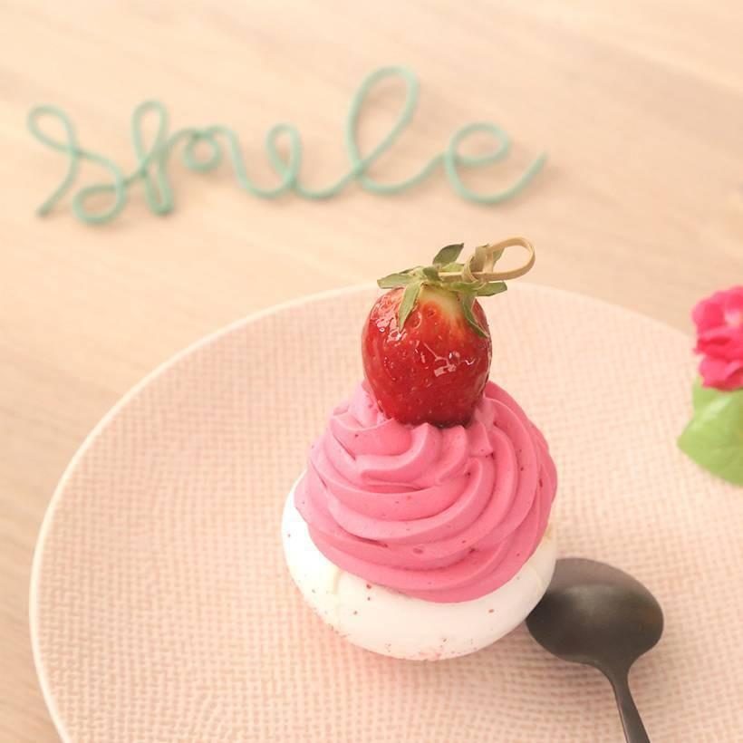 Recette de pavlovas fraise
