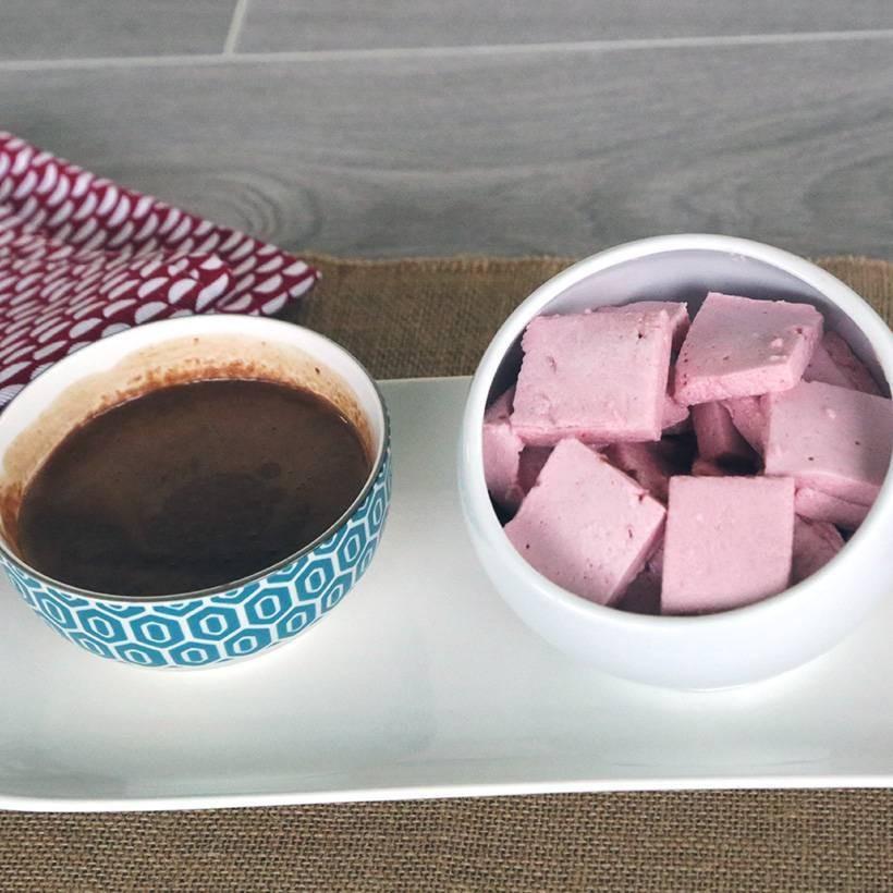 Recette de la guimauve framboise chocolat