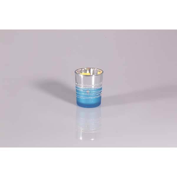 Photophore miroir turquoise