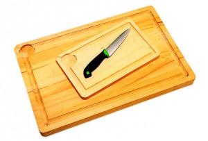 Planche à découper avec rigole 40 cm - 40 cm