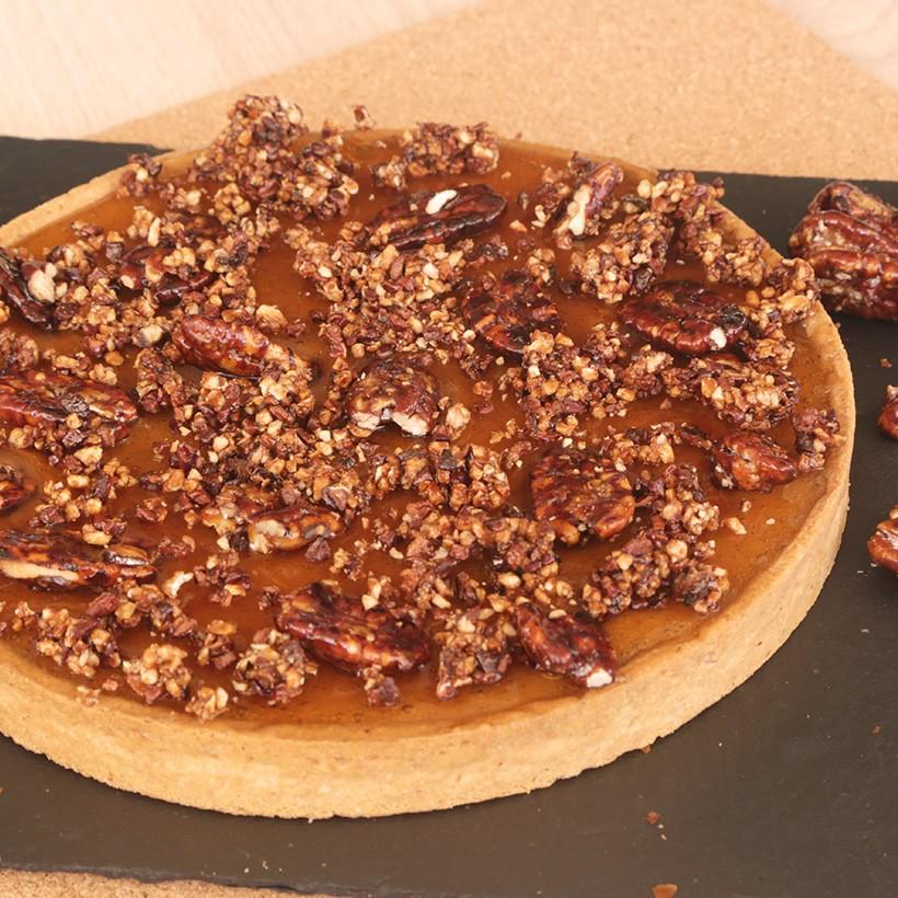 recette de pecan pie caramel tr sors de chefs. Black Bedroom Furniture Sets. Home Design Ideas