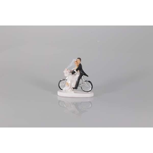Couple de mariés vélo