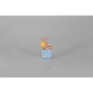 Bébé bleu boite