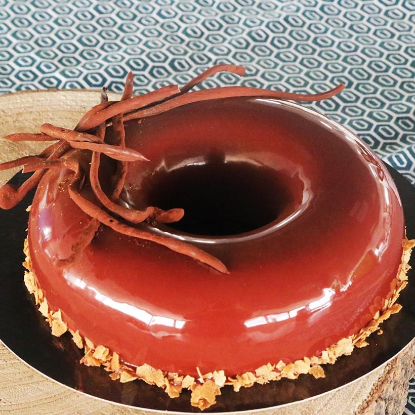 Recette d'entremet framboise chocolat