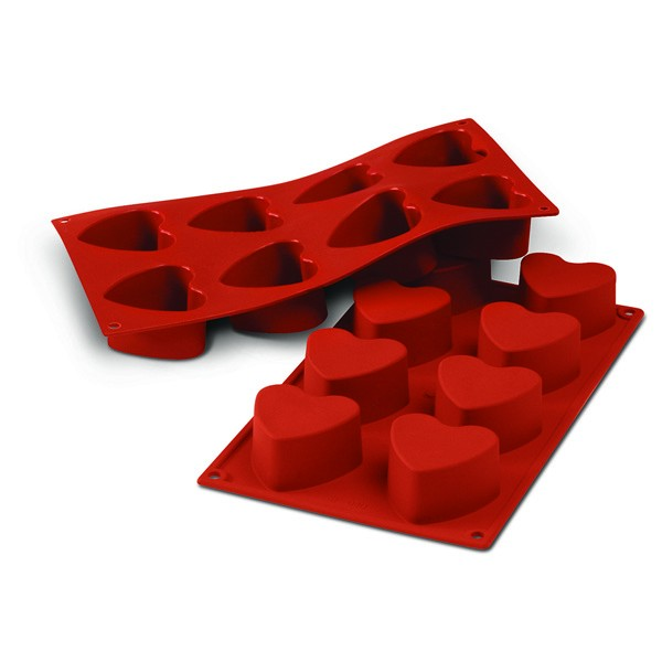 Moule silicone 8 coeurs