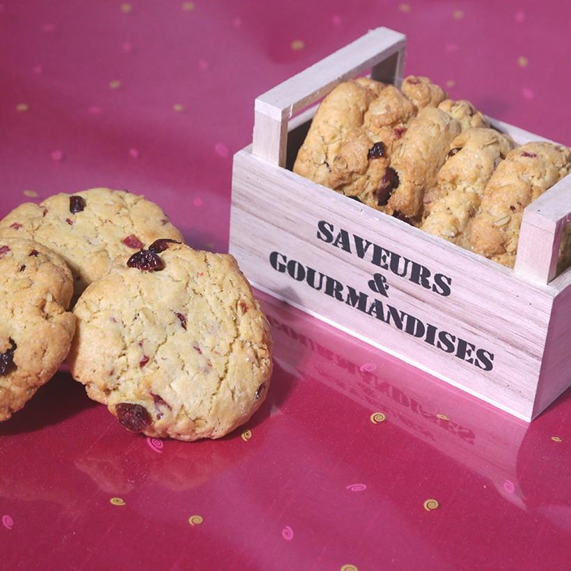 Recette de cookie fruits rouges