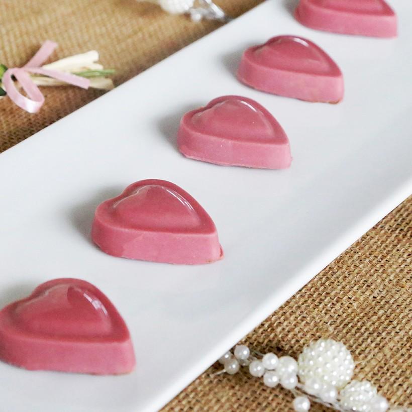 Recette de coeurs ruby praliné