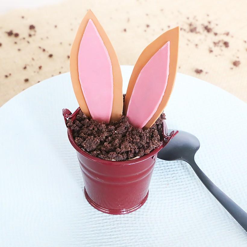 Recette de verrines chocolat caramel - Pâques