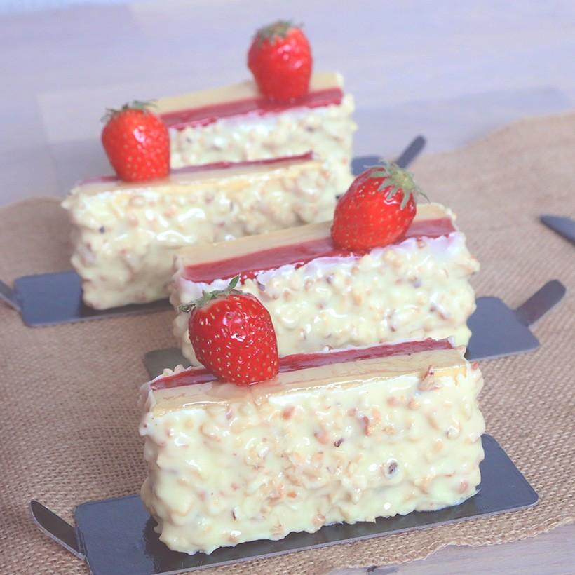 Recette de barre chocolat blanc fraise