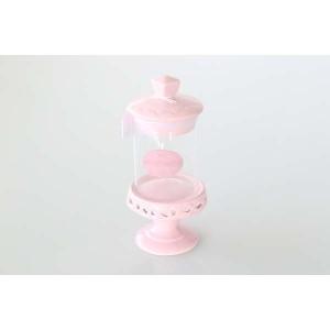 Bonbonnière sur pied rose