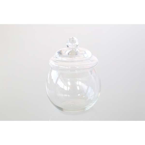 Bonbonnière en verre forme ronde