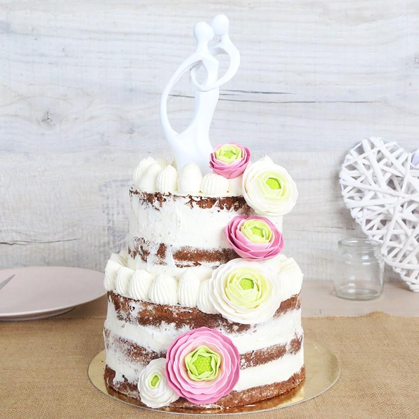 Recette de nude cake aux 2 chocolats