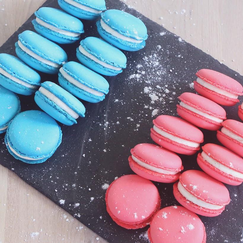 Recette de macarons roses ou bleus