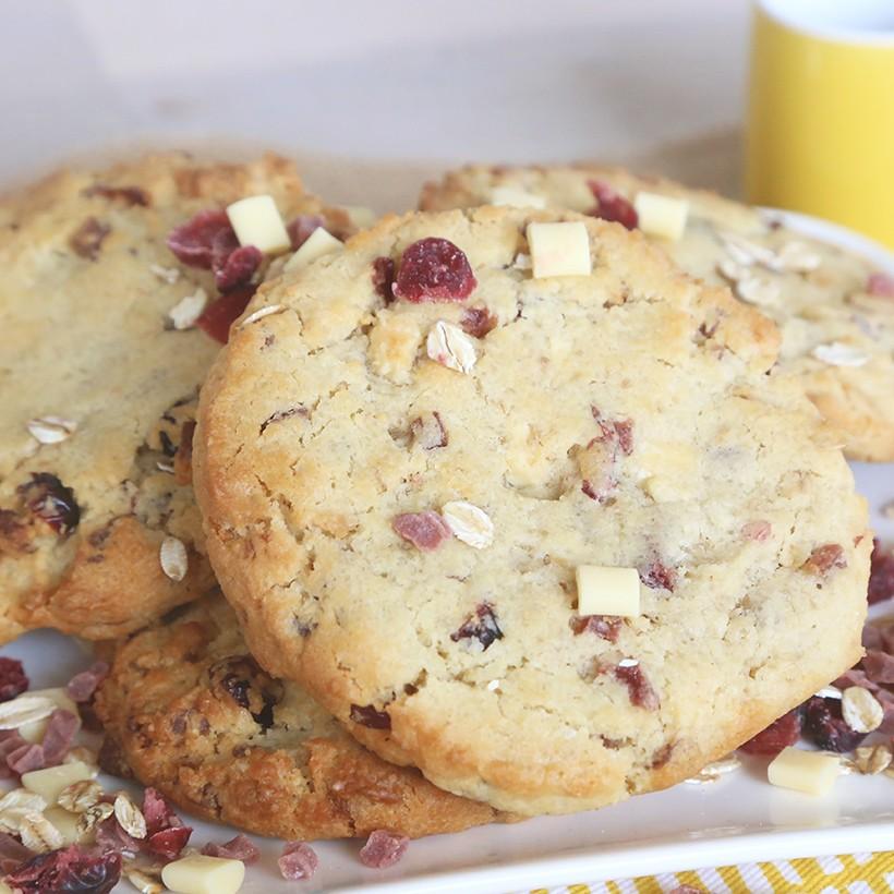 Recette de cookies moelleux aux fruits rouges