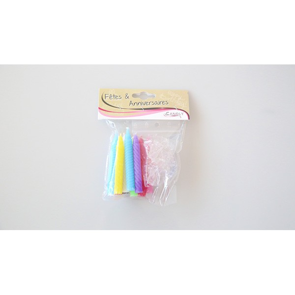 Bougies multicolores x 12