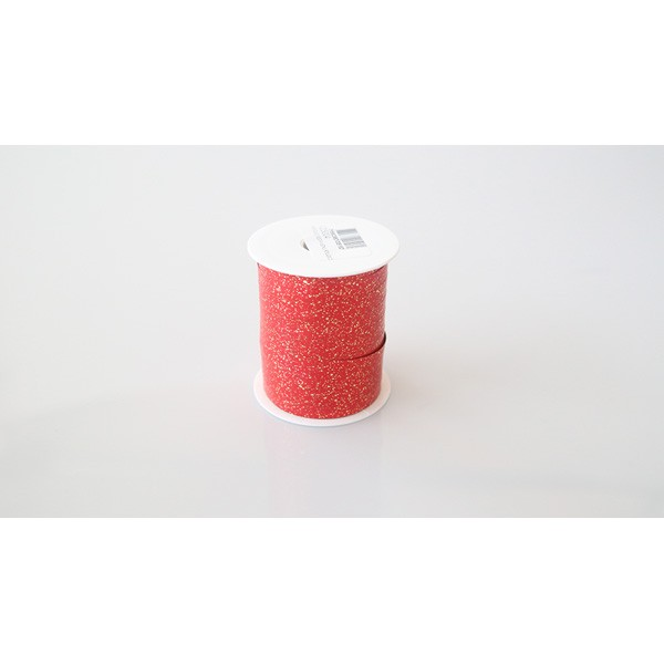 Bolduc métallise rouge - 25m