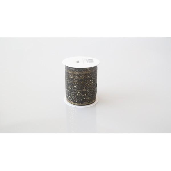 Bolduc métallise noir - 25m