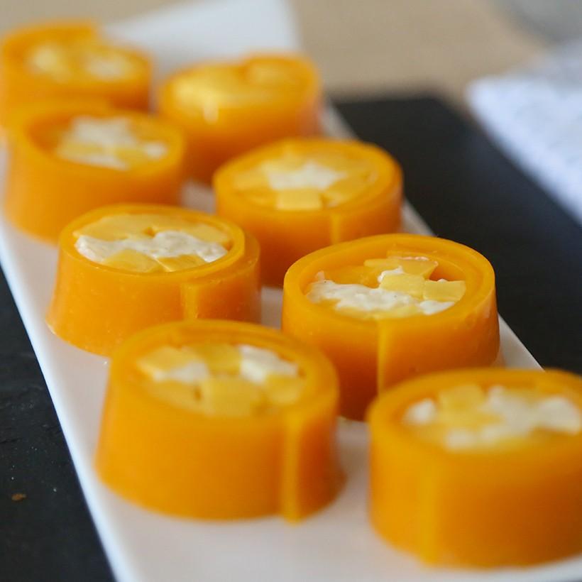 Recette de makis sucrés mangue abricot