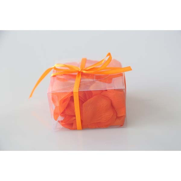 Boite pétales en tissu orange