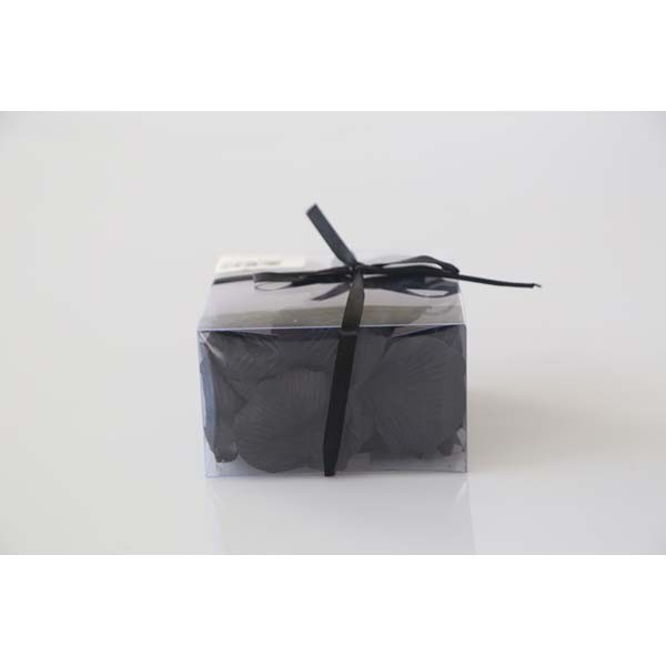Boite pétales en tissu noir