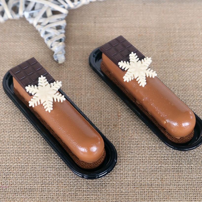 Recettes de fingers chocolatées cœurs lactés caramel