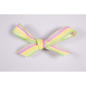 Ruban vert / violet / jaune - 25 mm x 25 mts