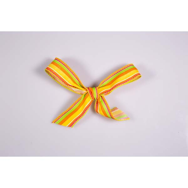 Ruban fantaisie arlequin jaune - 15 mm x 25 mtrs