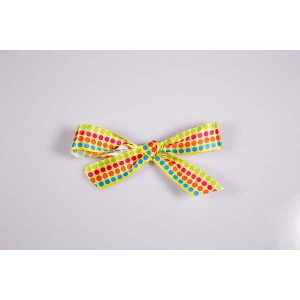 Ruban pois multicolores - 25 mm x 20 mtrs