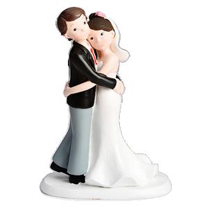 Sujet mariés qui s'enlacent