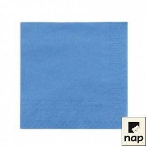 Serviettes - Bleu Azur - Paquet de 100