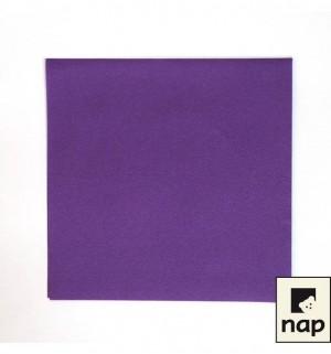 Serviettes qualité supérieure - Violet - Paquet de 50
